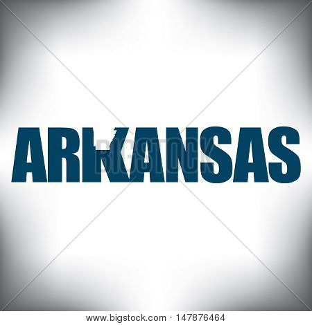 The Arkansas shape is within the Arkansas name in this state graphic