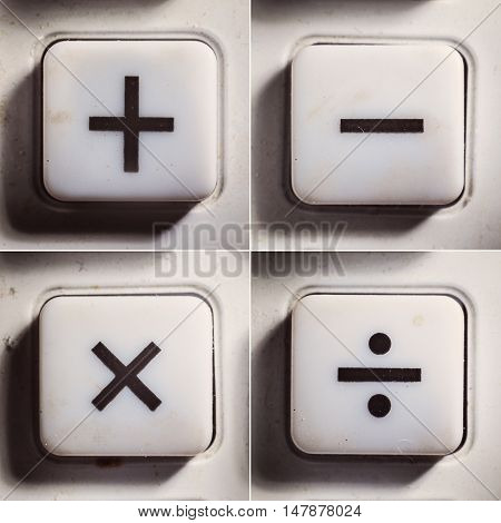 Basic Mathematical Operations As Buttons