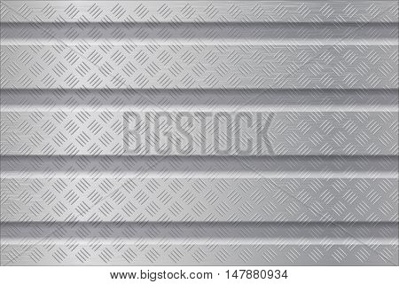 Metal background with non slip surface. Vector illustration