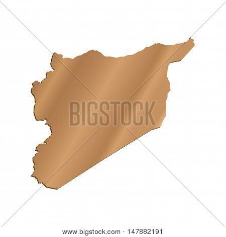 3D Vector Syria Map Pearl Border Outline