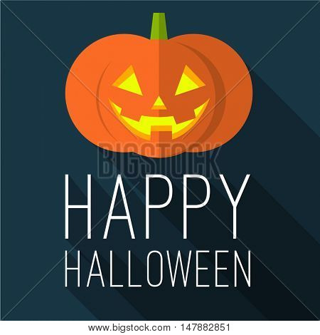 Halloween party. Happy Halloween vector flan design mock up.