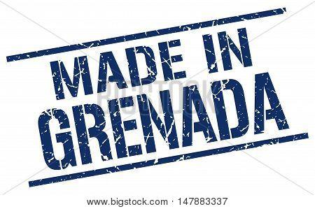 made in Grenada. Stamp. Square grunge sign