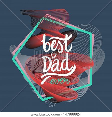 abstract design geometric composition with best dad greeting card