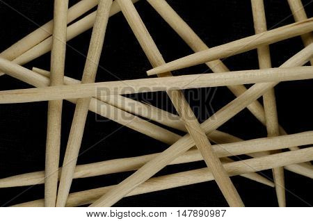 A pile of toothpicks under the macro