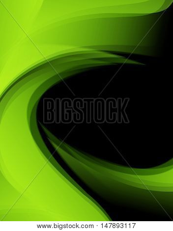 Bright green vector background. Wavy lines, elements for design. Vector elements for presentations, brochures, annual reports. Eps10