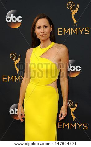 Minnie Driver at the 68th Annual Primetime Emmy Awards held at the Microsoft Theater in Los Angeles, USA on September 18, 2016.