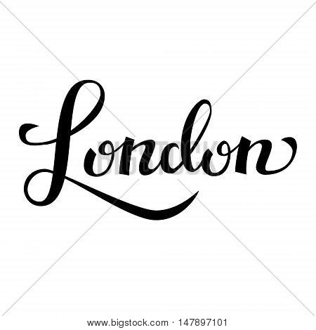 London hand drawn vector lettering. Modern calligraphy brush drawing.