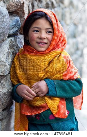 Balti Girl In Ladakh, India