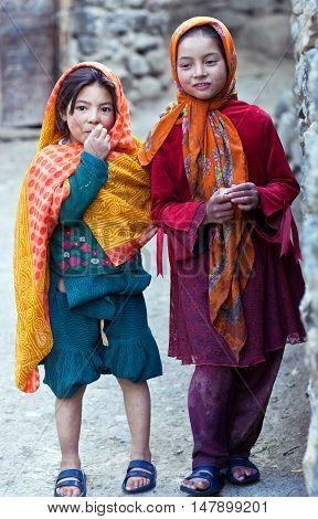 Balti Girls In Ladakh, India