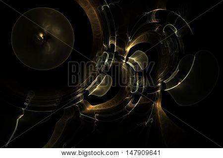 Abstract Fractal Magic Galactic Plays Melody Jazz