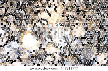 Mosaic background of many tiny colorful shapes or pieces