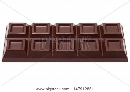 dark chocolate bar as background isolated on white background with clipping paths