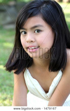 Asian Girl Outdoors