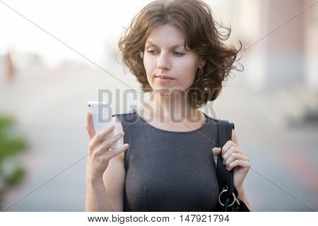 Young Woman Answering Phone Call