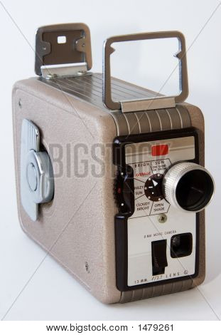 Old Handheld Movie Camera