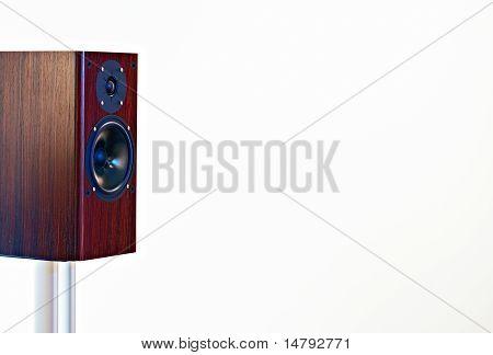 High End loudspeaker on white