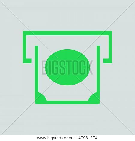 Banknote Sliding From Atm Slot Icon