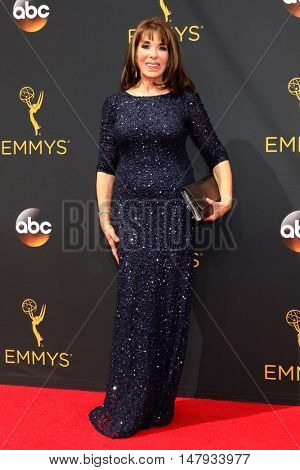 LOS ANGELES - SEP 18:  Kate Linder at the 2016 Primetime Emmy Awards - Arrivals at the Microsoft Theater on September 18, 2016 in Los Angeles, CA