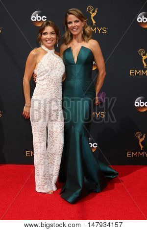 LOS ANGELES - SEP 18:  Kit Hoover, Natalie Morales at the 2016 Primetime Emmy Awards - Arrivals at the Microsoft Theater on September 18, 2016 in Los Angeles, CA