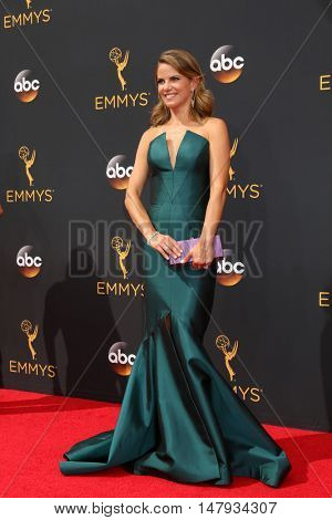 LOS ANGELES - SEP 18:  Natalie Morales at the 2016 Primetime Emmy Awards - Arrivals at the Microsoft Theater on September 18, 2016 in Los Angeles, CA