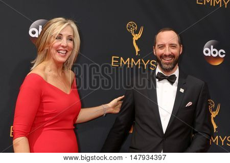 LOS ANGELES - SEP 18:  Martel Thompson, Tony Hale at the 2016 Primetime Emmy Awards - Arrivals at the Microsoft Theater on September 18, 2016 in Los Angeles, CA