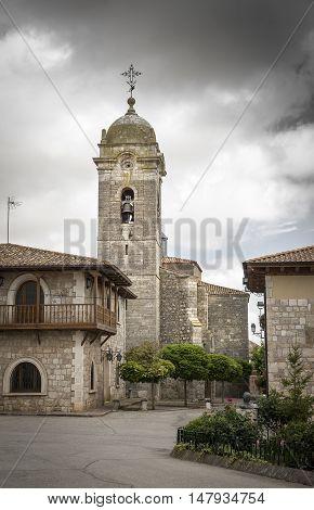 Santa Marina parish church in Rabe de Las Calzadas, Burgos, Spain