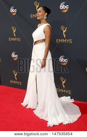 LOS ANGELES - SEP 18:  Tracee Ellis Ross at the 2016 Primetime Emmy Awards - Arrivals at the Microsoft Theater on September 18, 2016 in Los Angeles, CA