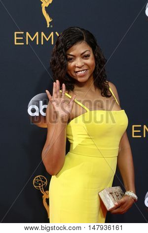 LOS ANGELES - SEP 18:  Taraji P. Henson at the 2016 Primetime Emmy Awards - Arrivals at the Microsoft Theater on September 18, 2016 in Los Angeles, CA