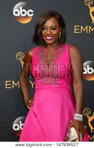 LOS ANGELES - SEP 18:  Viola Davis at the 2016 Primetime Emmy Awards - Arrivals at the Microsoft Theater on September 18, 2016 in Los Angeles, CA