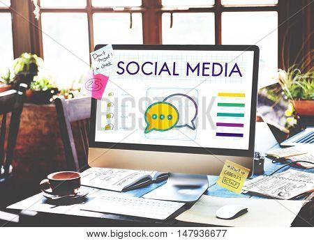 Social Media Speech Bubble Communication Concept
