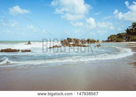Tambaba Beach. Official Naturist/nudist Beach In Brazil.