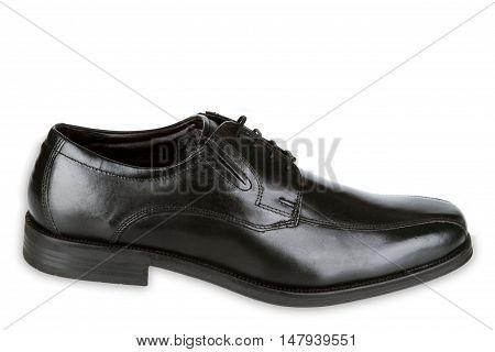 Black man shoes isolated on white background