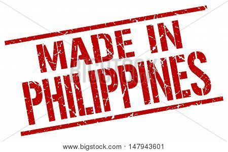 made in Philippines. Stamp. Square grunge sign