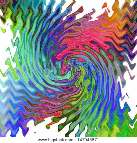 Abstract coloring background of the tropical color gradient with visual wave,twirl and pinch effects