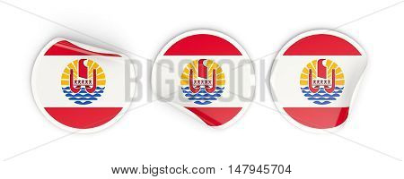 Flag Of French Polynesia, Round Labels