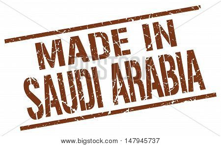made in Saudi Arabia. Stamp. Square grunge sign