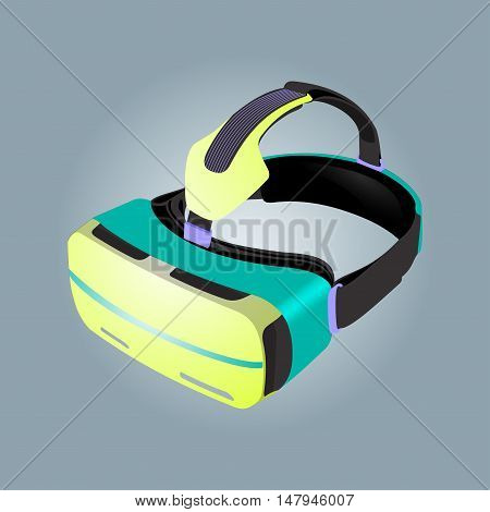 Virtual reality glasses image. Virtual reality glasses eps. Virtual reality glasses illustration. Virtual reality glasses design. Design element in vector.
