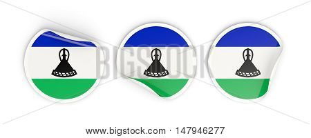 Flag Of Lesotho, Round Labels
