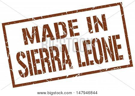 made in Sierra Leone. Stamp. Square grunge sign