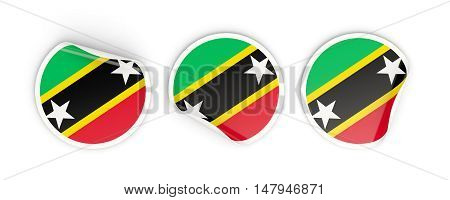 Flag Of Saint Kitts And Nevis, Round Labels