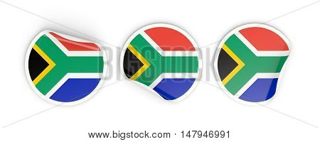 Flag Of South Africa, Round Labels