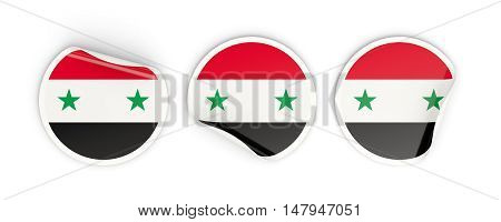 Flag Of Syria, Round Labels