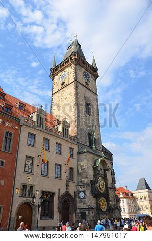 Beautiful Prague Astronomical Clock in Czech Republic