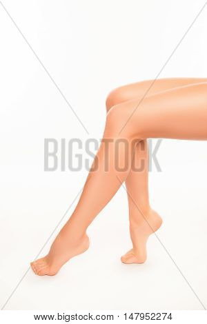 Close Up Photo Of Fit Long Smooth Woman's Legs