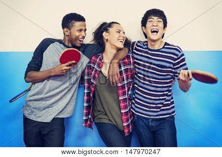Table Tennis Racket Amateur Activity Play Sport Concept