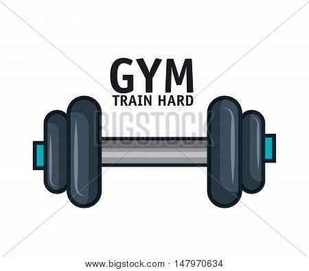 icon barbell gym training hard design vector illustration esp 10
