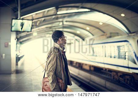 Train Transit Commuter Transportation Urban Concept