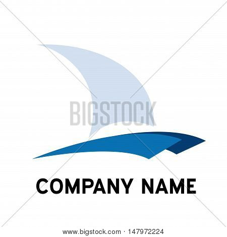 Vector sign catamaran yacht and boat isolated in white