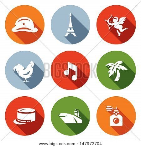 The French capital and the countrys symbols.