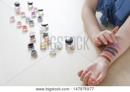 Makeup Cosmetics Fashion Glamour Beauty Visage Swatch Concept